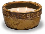 Round Vintage Bowl Candle
