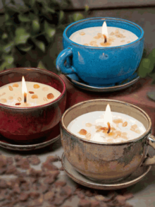 Stoneware Coffee Cup Candles