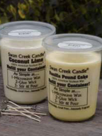 Unscented Candle Refill Wax & Wicks