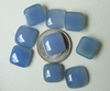 10MM Square Blue Chalcedony Cabochons