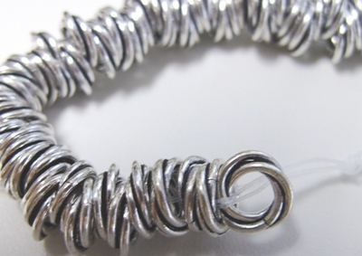 Twisted Rings - 10mm - Approx. 110 Rings - .999 Silver Over Copper<br>SCBK28-10