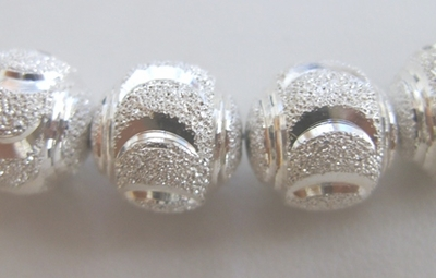 Round Diamond Style 2-Cut Bead - 12mm - 18 Beads - .999 Silver Over Copper<br>SSCC02