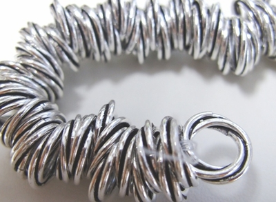 Twisted Rings - 12mm - Approx. 80 Rings - .999 Silver Over Copper<br>SCBK28-12