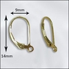 Lever Backs earring findings 1-pair Gold Filled GF-202