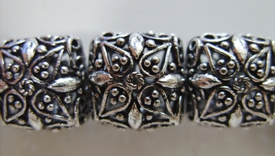 Square Hollow Bead - 14mm - 15 Beads - .999 Silver Over Copper<br>SCBK4-9