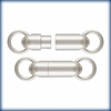 Magnetic Tube Clasp 4.5x14.5mm Sterling Silver 1 piece MJ6779