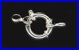 Spring Ring - 16mm - 1 Clasp - Sterling Silver<br>SS/410/16-998