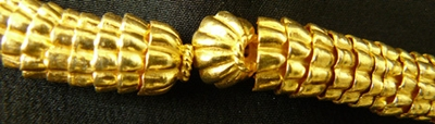 Bead Cap - 7mm - 84 Caps - 24 kt. Gold Over Copper<br>GCBK904