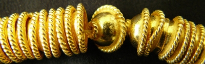 Bead Cap - 7mm - 54 Caps - 24Kt. Gold Over Copper <br>GCBK1006