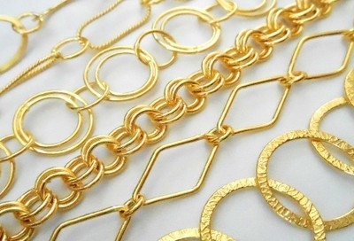 Chain By the Foot - 24KT. Gold Over Copper -