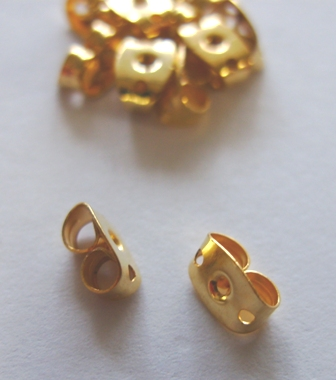 Friction Nut - 100 Pieces - 24Kt. Gold Over Copper