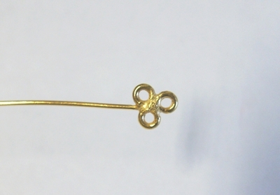 "Clover Eye Pin 3"" 36 Pieces 24kt. Gold Over Copper"