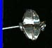 """Fancy Head - Pin 3"""" - 2 Pieces - Sterling Silver<br>F7-2"""