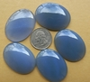 30x40mm Blue Chalcedony Cabochons