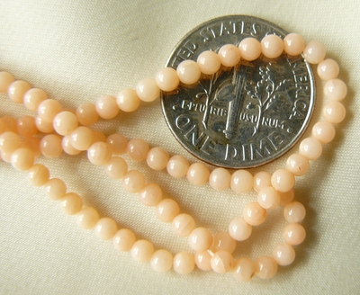 "3mm Round Coral natural Beads 16 "" strands"