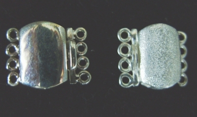 4 Strand Clasp - 10x13mm - 1 Clasp - Sterling Silver<br>CL-7-4<br>CL-7-4M