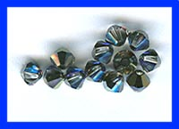 4mm Swarovski Crystal Bicones 12 Pack