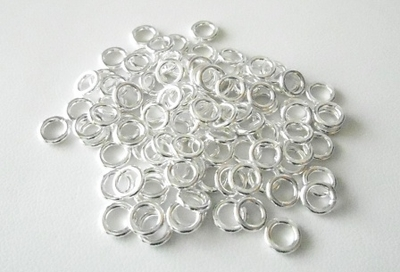 Jump Ring 6mm 130+ Pieces  Open .999 Pure Silver Over Copper core
