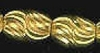 6x5mm Diamond Cut Gold Plated Brass Bead