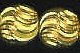 7MM Diamond Cut Gold Plated Brass Bead