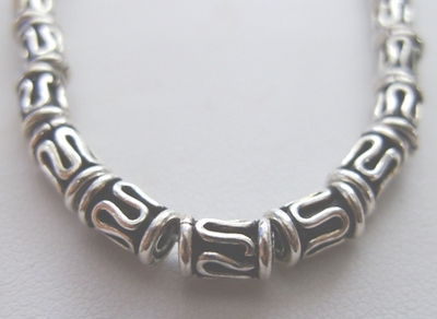 Bali-Style Tube Bead - 7x4mm - 31 Beads - .999 Pure Silver Over Copper