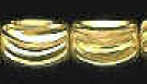 7x5mm Diamond Cut Gold Plated Brass Bead