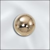 8MM 14 Kt. Gold filled Beads seamless 5 pack