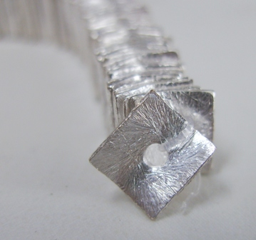 Square Wafer - 8mm - Approx. 120 Spacers - .999 Silver Over Copper<br>SCBK206