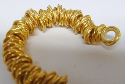 "8mm twisted gold over copper spacer beads 8"" strands 80+ beads"