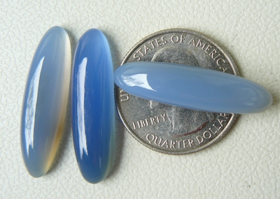 8X30mm Blue Chalcedony Oval Cabochons