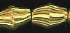 8x5mm Diamond Cut Gold Plated Brass Bead