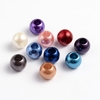 Acrylic European Beads, Large Hole Beads, Rondelle, Mixed Color, 10x12mm, hole: 5mm