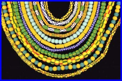 African Trade Beads Made in Africa by indiginous People