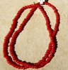 "African White heart beads Red color4x5mm 24"" strands"