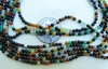"Agate multi-color 2mm round beads 16"" strands"
