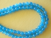 "Agate beads Blue 4mm round 16"" strands"