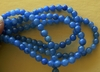 "Agate Blue Beads 4mm Round 15"" strands"
