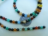 "Agate Faceted Multi-colored beads 15"" strands 4mm"