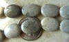 Agatized Fossilized Coral Oval Beads 17x21mm  22 Beads