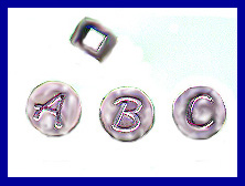 Alphabet Beads Sterling Silver
