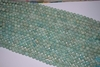 "Amazonite Mala Beads 14"" Strands 8-10mm uniformly strung rounds"