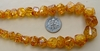 "Amber graduated Cognac nuggets 6 to 12 mm 17 ""over 60 beads"