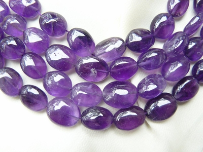 Amethyst Oval Beads 9x6x12mm 16: Strands
