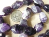 """Amethyst Faceted Chunky nugets 16"""" strand of beads"""