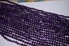 "Amethyst Mala Beads 14"" strands 7-8mm Uniformly strung Rounds"