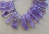 Amethyst Beads- Top Drilled Peanut shape sized about like a peanut
