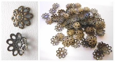 Bead Cap - 10x2mm - 50 Pieces - Antique Bronze<br>E190Y-NF-AB
