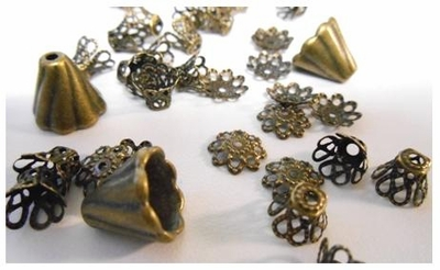Beads, Caps and Cones - Antique Bronze -