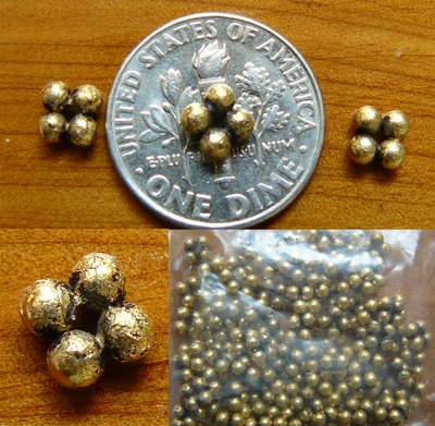 Antique Gold Beads  bnded over copper core 5x2.5mm 50+ beads