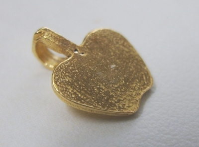 Apple Glue-On Bail - 16 Pieces - 10x12mm - 24Kt. Gold Over Copper